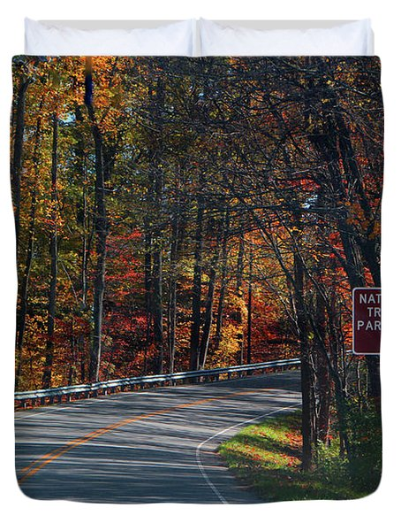 Duvet Cover featuring the photograph Fall Drive In Tennessee  1 by Ericamaxine Price