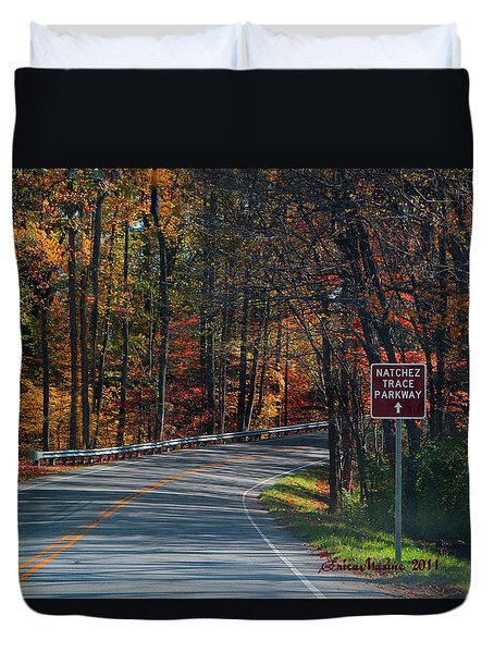 Fall Drive In Tennessee  1 Duvet Cover