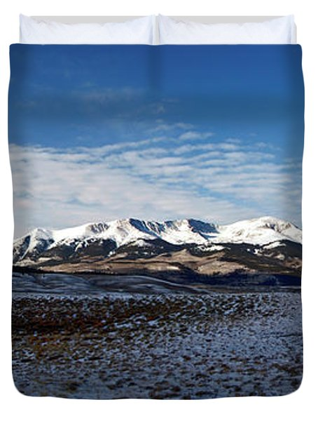 Fall Ends Panorama Duvet Cover by Jeremy Rhoades