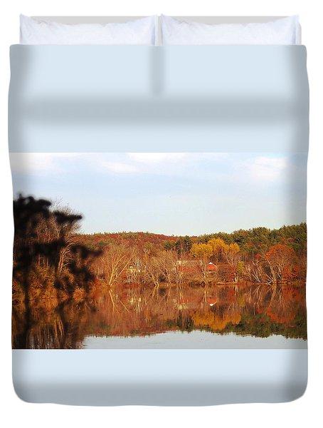 Fall Farm Landscape Duvet Cover