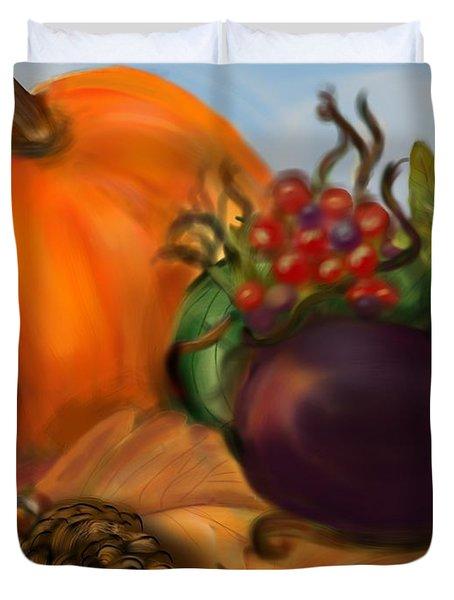 Fall Festival Duvet Cover by Christine Fournier