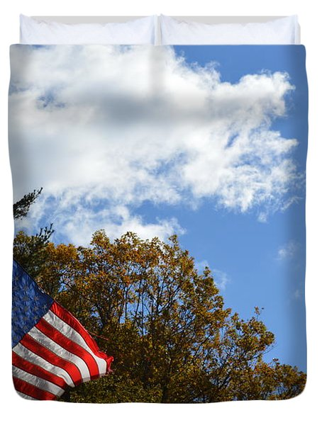 Fall Flag Duvet Cover