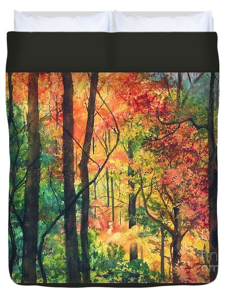 Fall Foliage Duvet Cover by Barbara Jewell