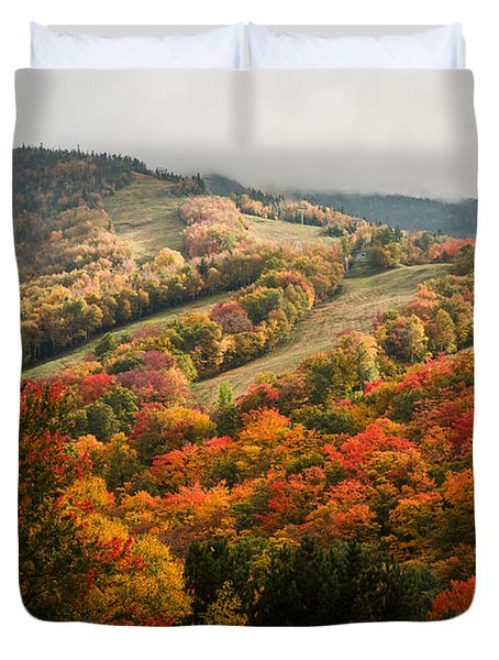 Fall Foliage On Canon Mountain Nh Duvet Cover