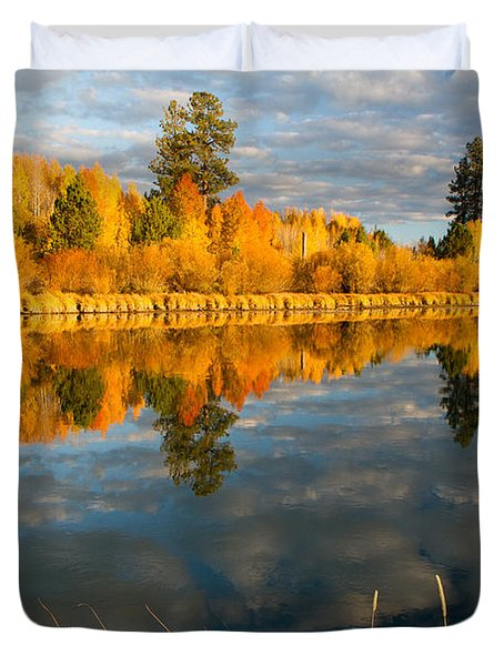 Duvet Cover featuring the photograph Fall Fractal by Kevin Desrosiers