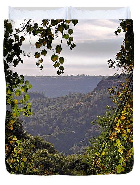 Fall Frames The Canyon Duvet Cover