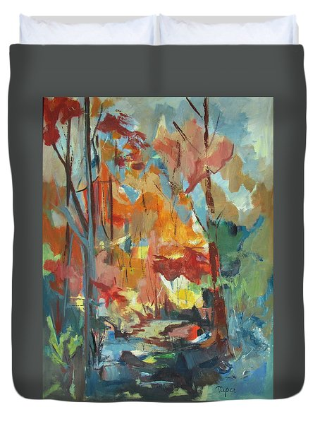 Fall From My Window Duvet Cover