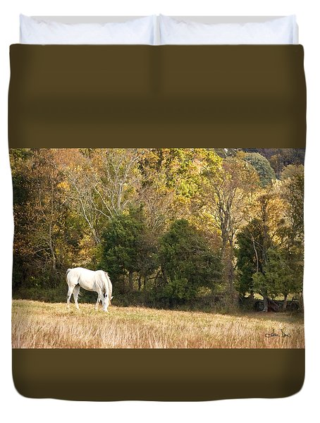 Fall Grazing Duvet Cover