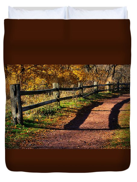 Fall In Chicago Duvet Cover