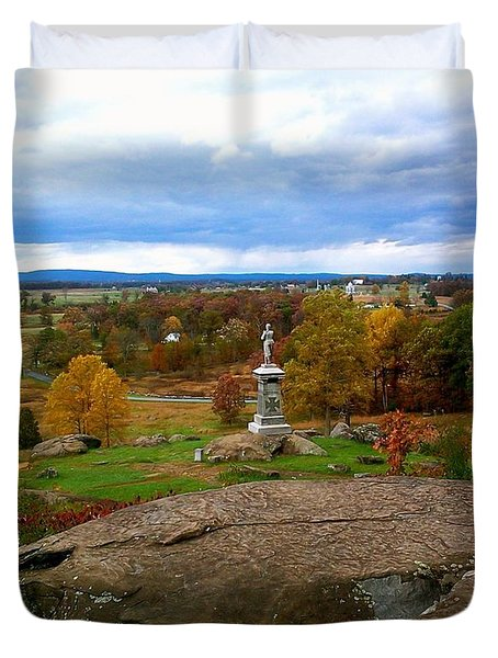Fall In Gettysburg Duvet Cover by Amazing Photographs AKA Christian Wilson
