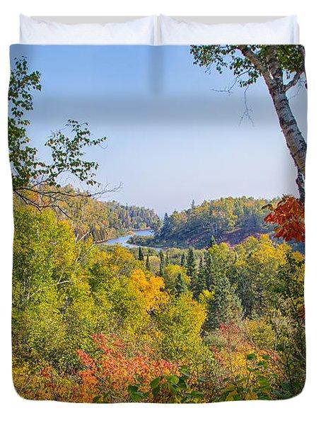 Fall In Gooseberry State Park Duvet Cover