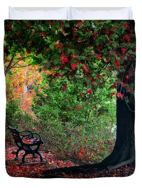 Fall In Henes Park Duvet Cover