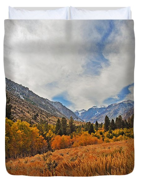 Fall In Lundy Canyon Duvet Cover by Lynn Bauer