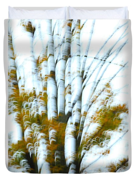 Fall In Motion Duvet Cover by Karol Livote