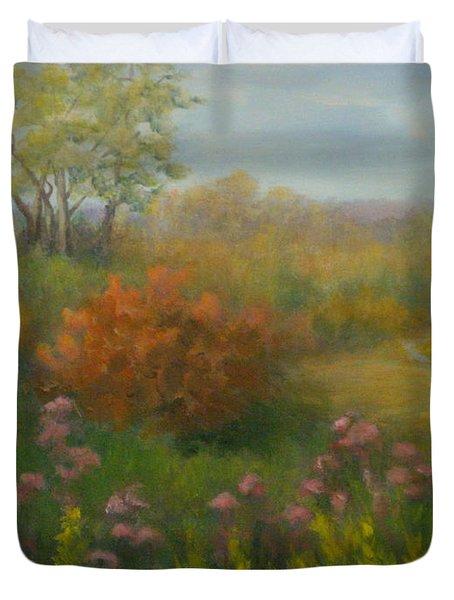 Fall In New England Duvet Cover by Pamela Allegretto