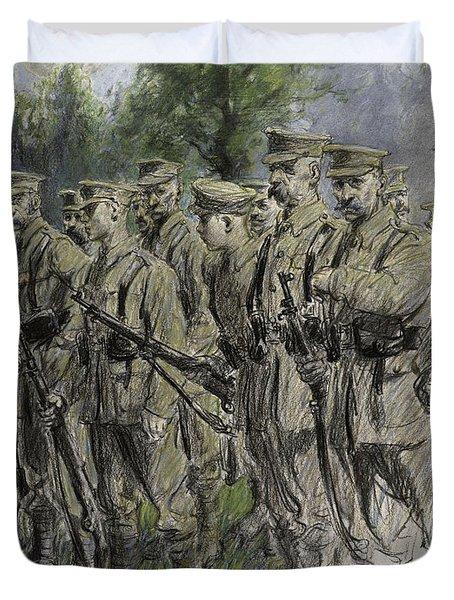 Fall In Norfolk Volunteers Duvet Cover by Frank Gillett