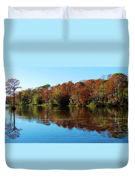 Fall In The Air Duvet Cover