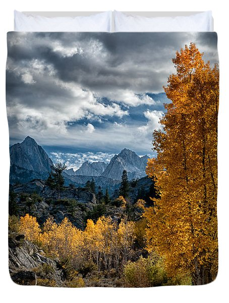 Fall In The Eastern Sierra Duvet Cover by Cat Connor