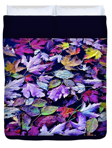 Fall In The Lake Duvet Cover