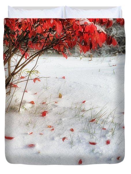 Fall Into Winter Duvet Cover