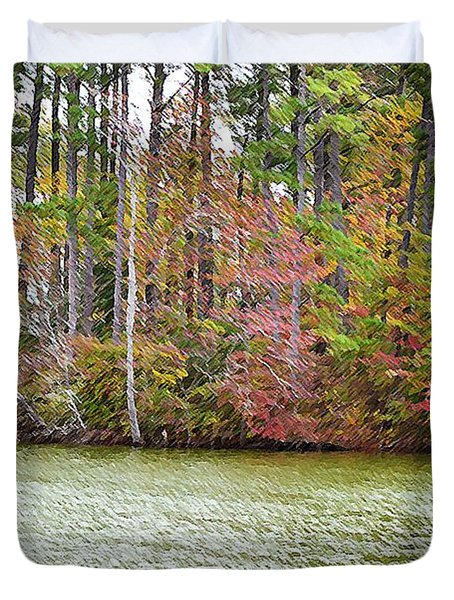 Fall Landscape 2 Duvet Cover by Lanjee Chee