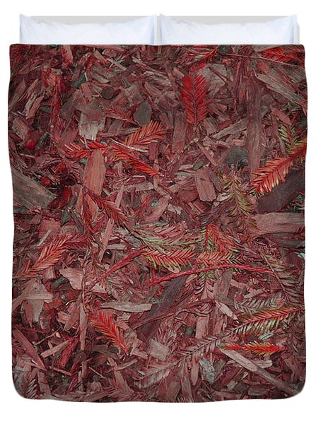 Duvet Cover featuring the photograph Fall Leaves by Mini Arora