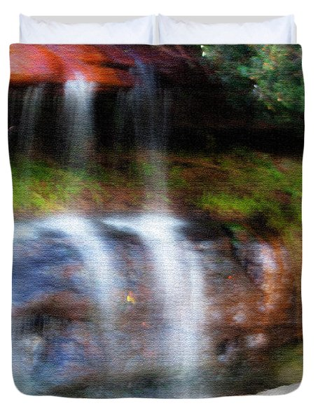 Duvet Cover featuring the photograph Fall by Miroslava Jurcik