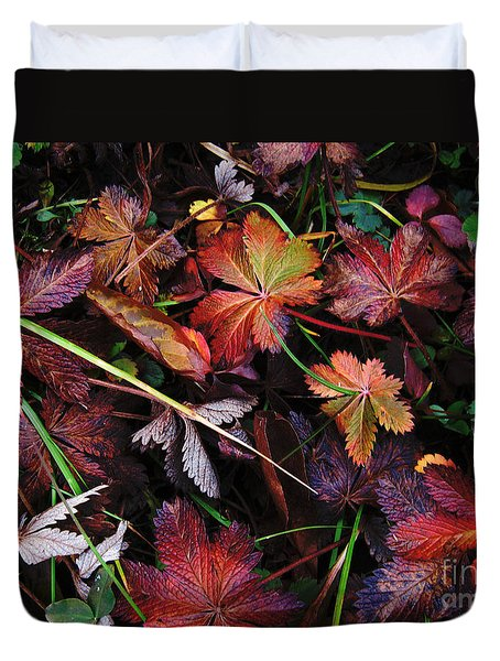 Duvet Cover featuring the photograph Fall Mix by Janice Westerberg