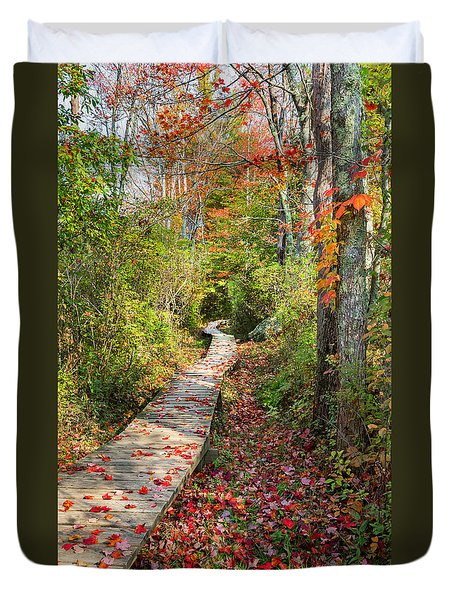 Fall Morning Duvet Cover by Bill Wakeley