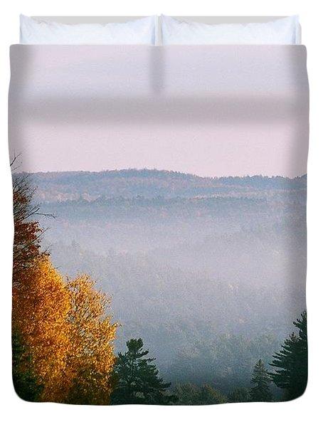 Fall Morning Duvet Cover by David Porteus