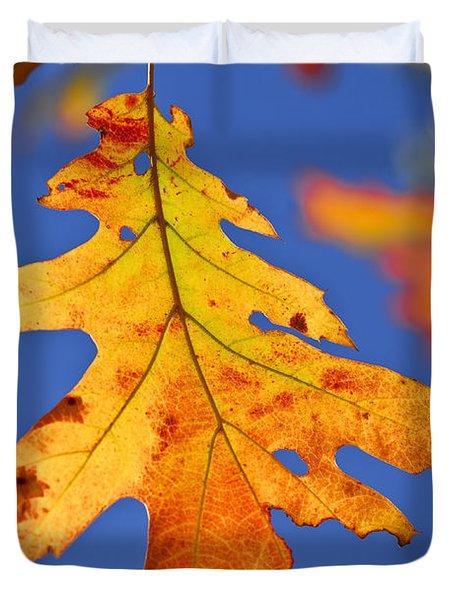 Fall Oak Leaf Duvet Cover