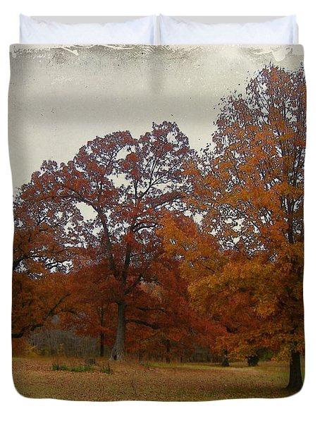 Fall On Antioch Road Duvet Cover