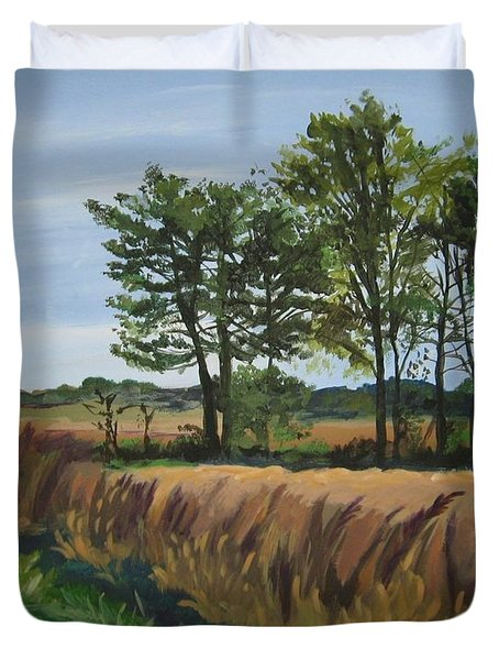 Fall On Douglas Road Duvet Cover