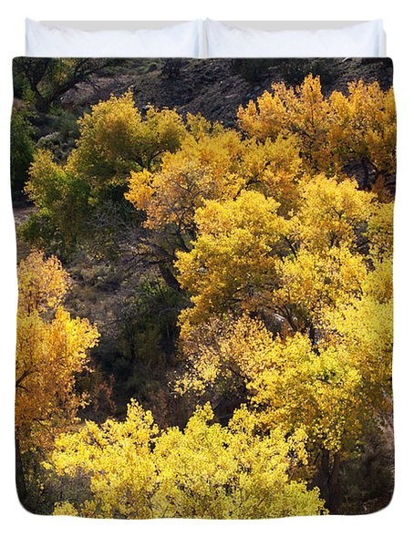 Duvet Cover featuring the photograph Fall On The Chama River by Roselynne Broussard