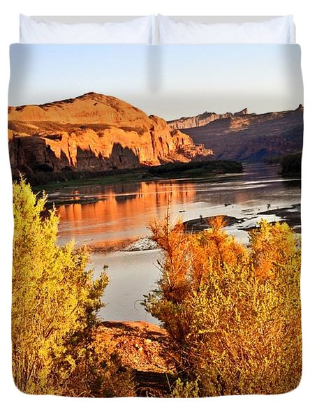 Fall On The Colorado Duvet Cover by Marty Koch