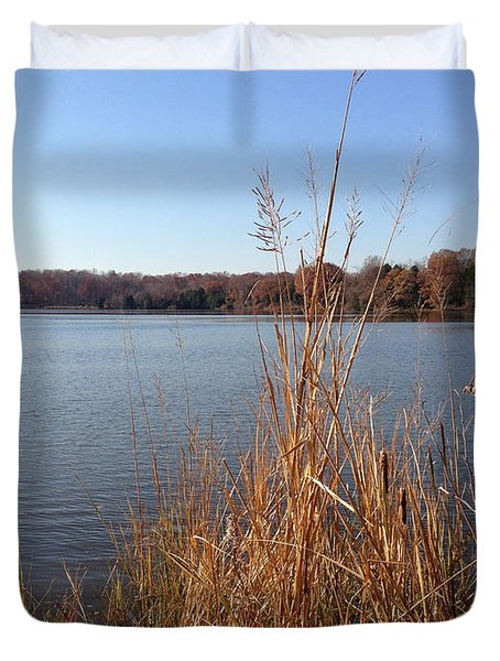 Fall On The Creek Duvet Cover