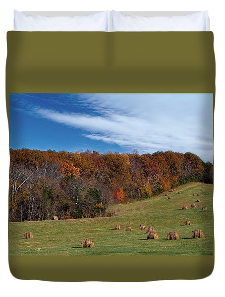 Fall On The Farm Duvet Cover