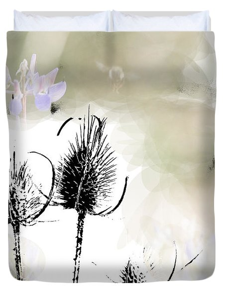 Fall On White II Duvet Cover by Rich Collins