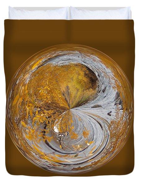 Fall Orb Duvet Cover
