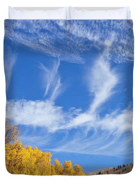 Quaking Aspens In Fall Duvet Cover