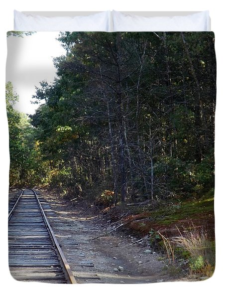 Fall Railroad Track To Somewhere Duvet Cover