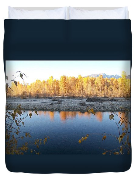 Fall Reflection 2 Duvet Cover