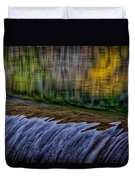 Fall Reflections At Tumwater Spillway Duvet Cover