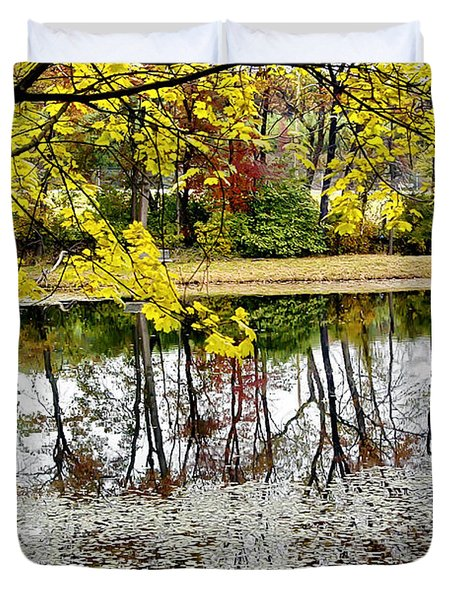 Fall Reflections Duvet Cover by Brian Wallace