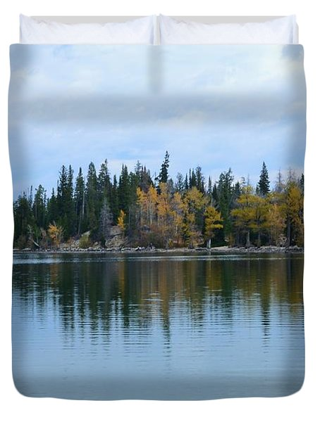 Fall Reflections Duvet Cover by Kathleen Struckle