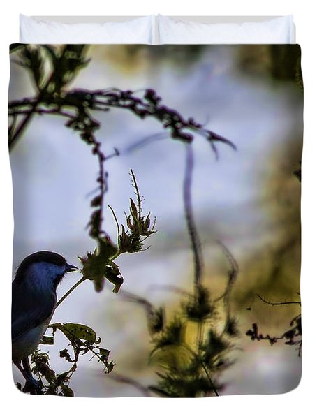 Duvet Cover featuring the photograph Fall Silhouette by Gary Holmes