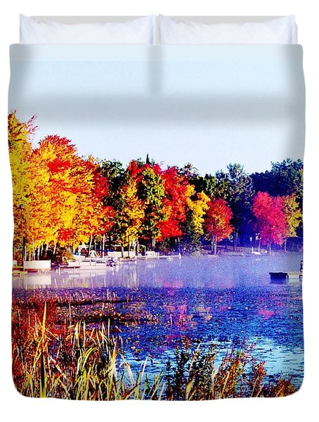Duvet Cover featuring the photograph Fall Splendor Of Mid-michigan by Daniel Thompson
