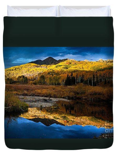 Fall Sunset Duvet Cover