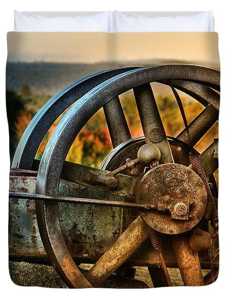 Fall Through The Wheels Duvet Cover