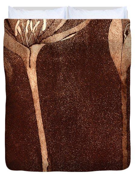 Fall Time - Autumn Crocus Meadow Safran Duvet Cover